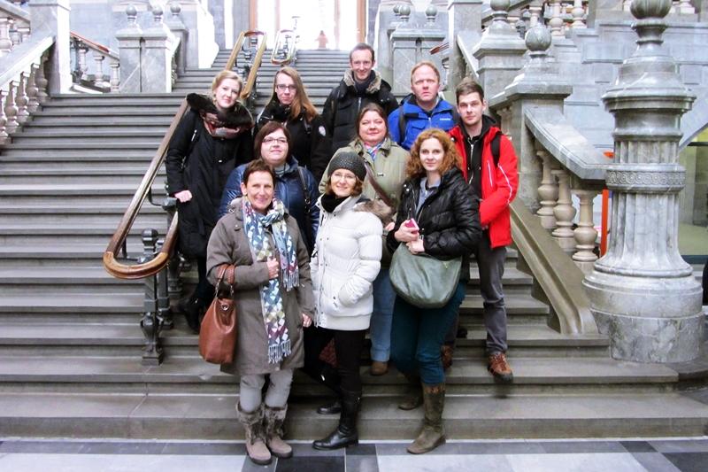 Antwerpia - uczestnicy szkolenia w Belgii