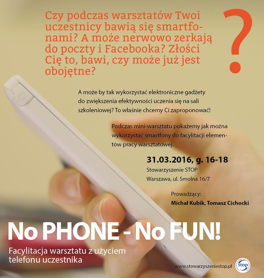 No PHONE no FUN - zaproszenie