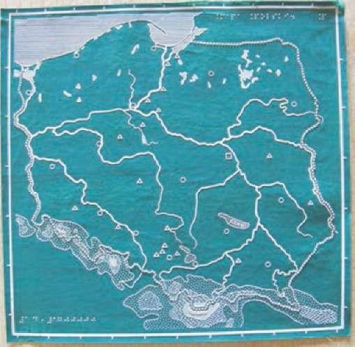 Oilcloth map of Poland