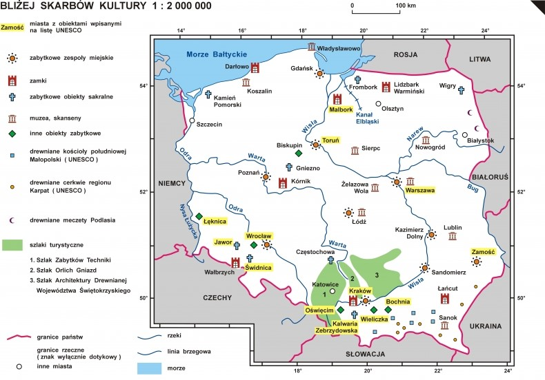 Mapa - Bliżej Skarbów Kultury w Polsc