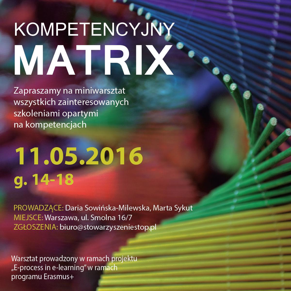 Kompetencyjny Matrix - warsztat 11 maja 2016