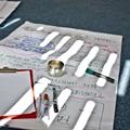 Kartka flipchart, clipboard, markery